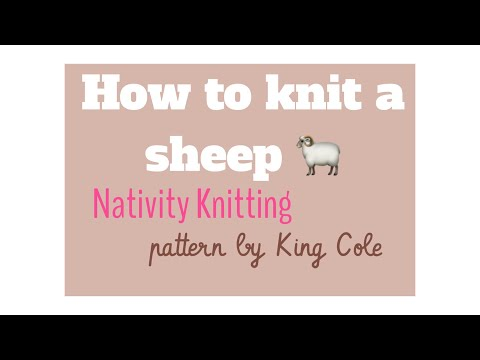 How to knit a sheep/Nativity Sheep | TeoMakes