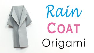Easy☺︎ Origami Paper Rain Coat Outer - Origami Kawaii〔#084〕