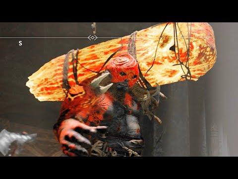 God of War 4 Defeat Dauði Hamarr (Masked Lava Troll) BOSS
