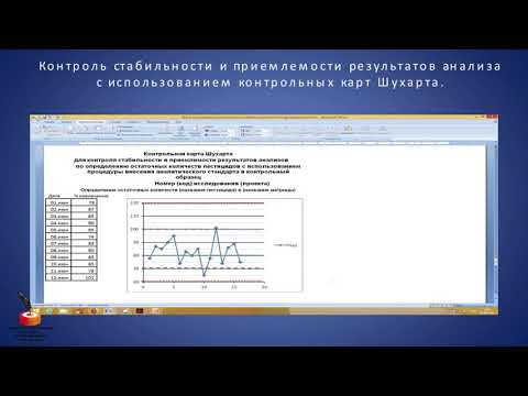 Контроль стабильности и приемлемости результатов анализы с использованием контрольных карт Шухарта