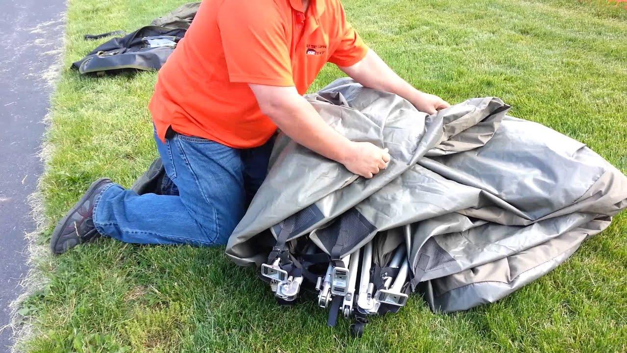 Jet Tent F21-30 take down u0026 pack away & Jet Tent F21-30 take down u0026 pack away - YouTube