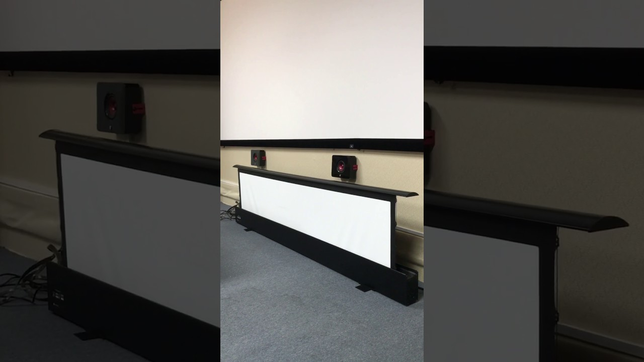 Xyscreen Motorized Floor Rising Projection Screen Youtube