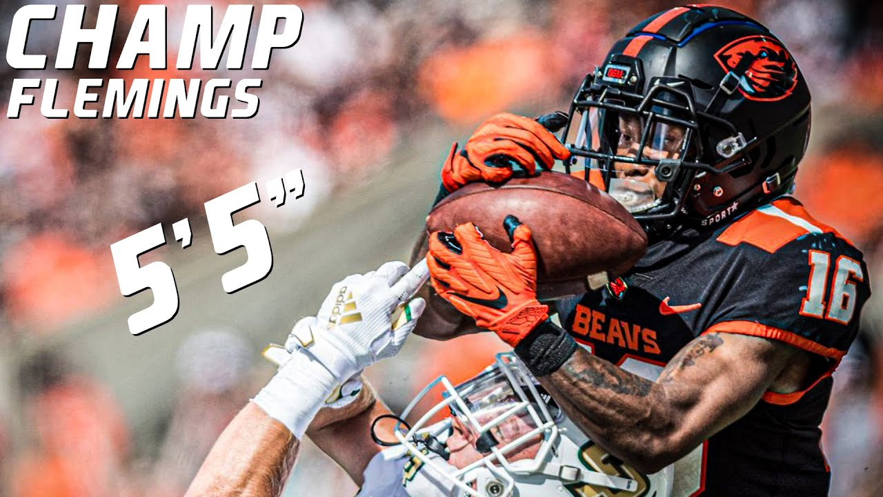 Smallest Playmaker in College Football   Champ Flemings Oregon State Highlights ᴴᴰ