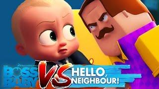 Minecraft - BOSS BABY VS HELLO NEIGHBOUR!