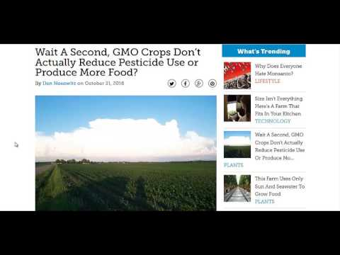 Study Shows GMO Crops DON'T Produce More Food Or Decrease Pesticide Use