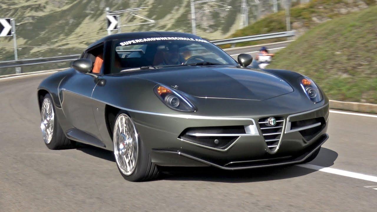 Alfa Romeo Disco Volante 4.7L V8 (450HP) Amazing Exhaust Sounds!