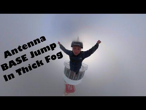 Jim Conner - Base Jumper Goes For Off An Antenna In Major Fog Foolishness
