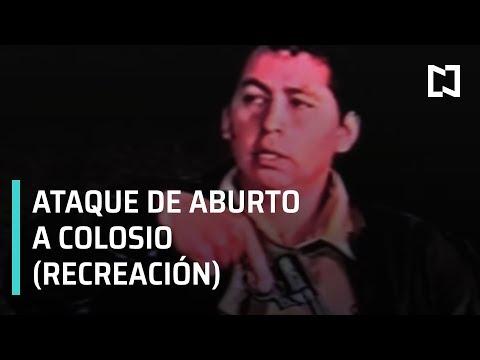Asesinato de Colosio; recreación de asesinato de Colosio por Mario Aburto