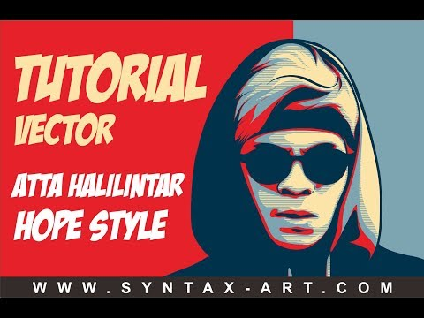 Tutorial Vector Atta Halilintar - Obama Hope Style