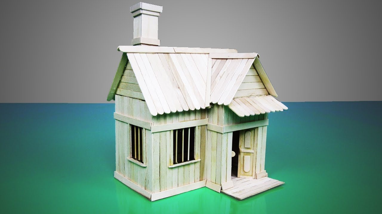 Making a Small House from Popsicle Stick - DIY Popsicle House | Model 18