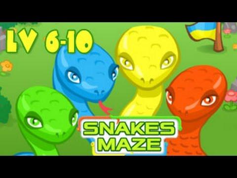 Snakes Maze Walkthrough Level 6-10 (Html5)