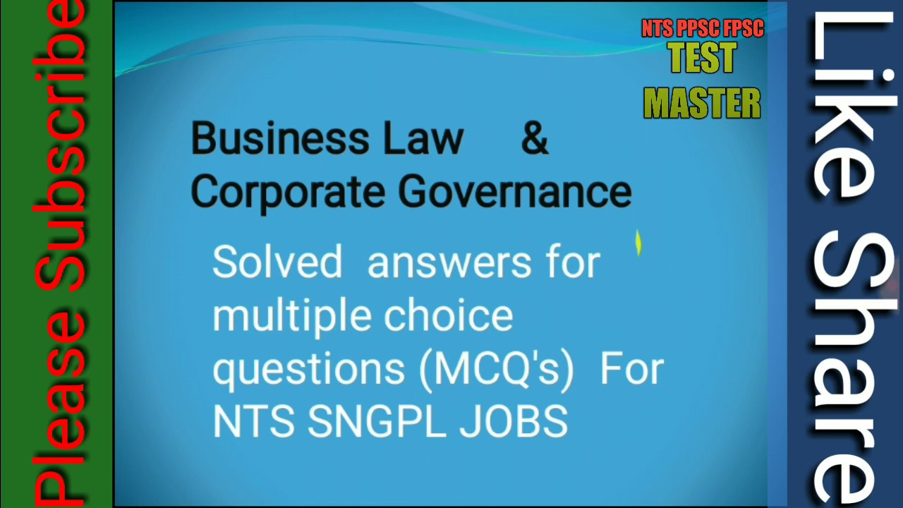 corporate governance multiple choice questions and answers