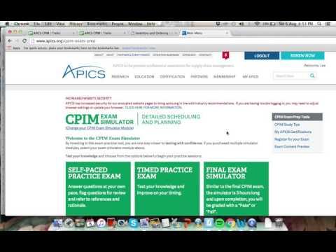 Passing my APICS CPIM exam