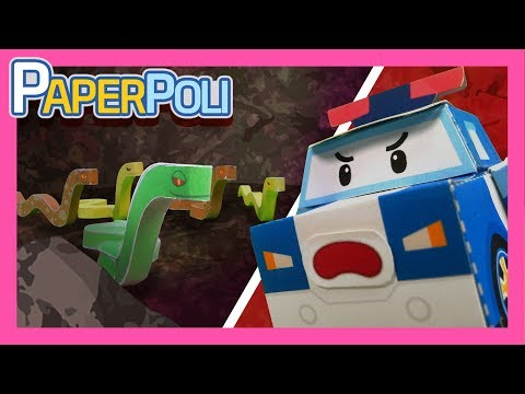 39.Snakes! Dangerous rescue operation in snake tunnel!! | Paper POLI [PETOZ] | Robocar Poli Special