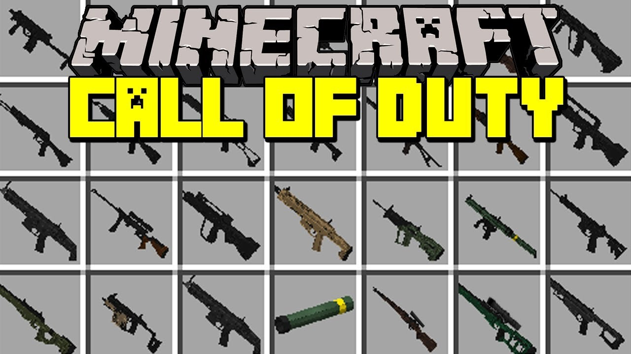 Minecraft CALL OF DUTY MOD!  REALISTIC 10D WEAPONS, GUNS, SNIPERS, & MORE!   Modded Mini-Game