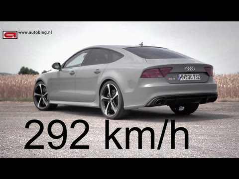 Audi RS7 top speed!