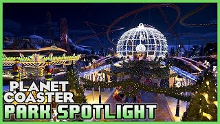 Snow White Christmas Park! Park Spotlight 06 (Planet Coaster)