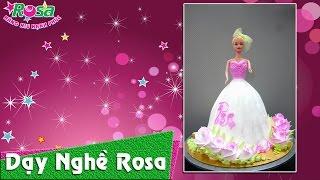 Bánh kem sinh nhật mẫu hot girl áo đầm độc và lạ