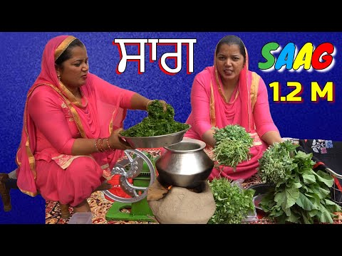 Saag 💕 Saag Recipe 💞 Sarson Ka Saag Recipe 💕 Punjabi Village Food Factory 💞 Punjabi Food