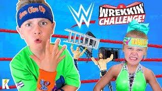 WWE Wrekkin Performance Center Challenge!!! KIDCITY