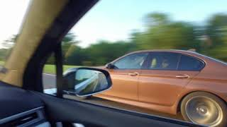 Фура обгоняет Tesla Model X P90D и BMW M5 F10 на 170 км ч