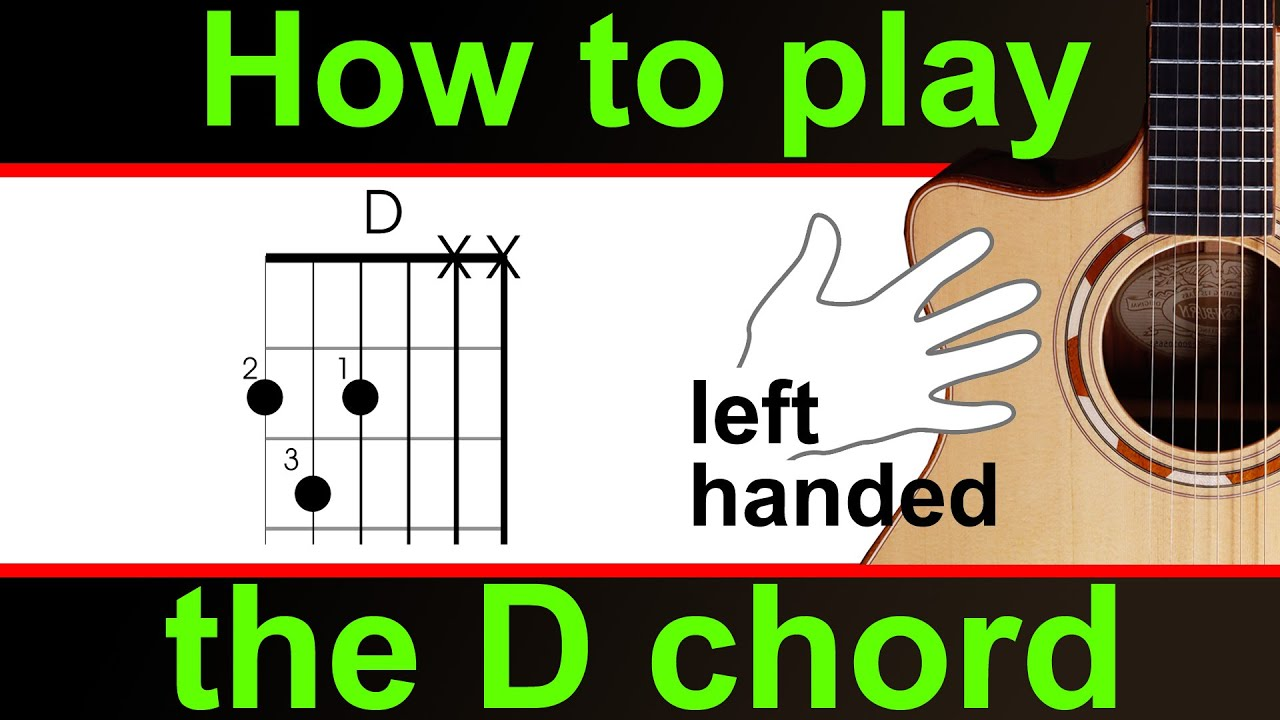 Left Handed How To Play The D Major Chord On Guitar Play D Chord
