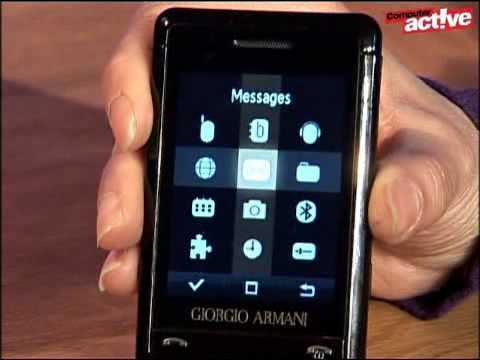 Samsung Giorgio Armani mobile phone review