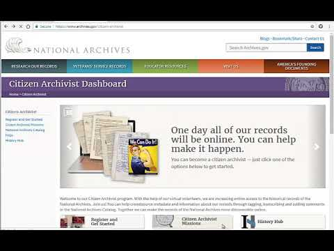 How to Tag and Transcribe Records in the National Archives Catalog
