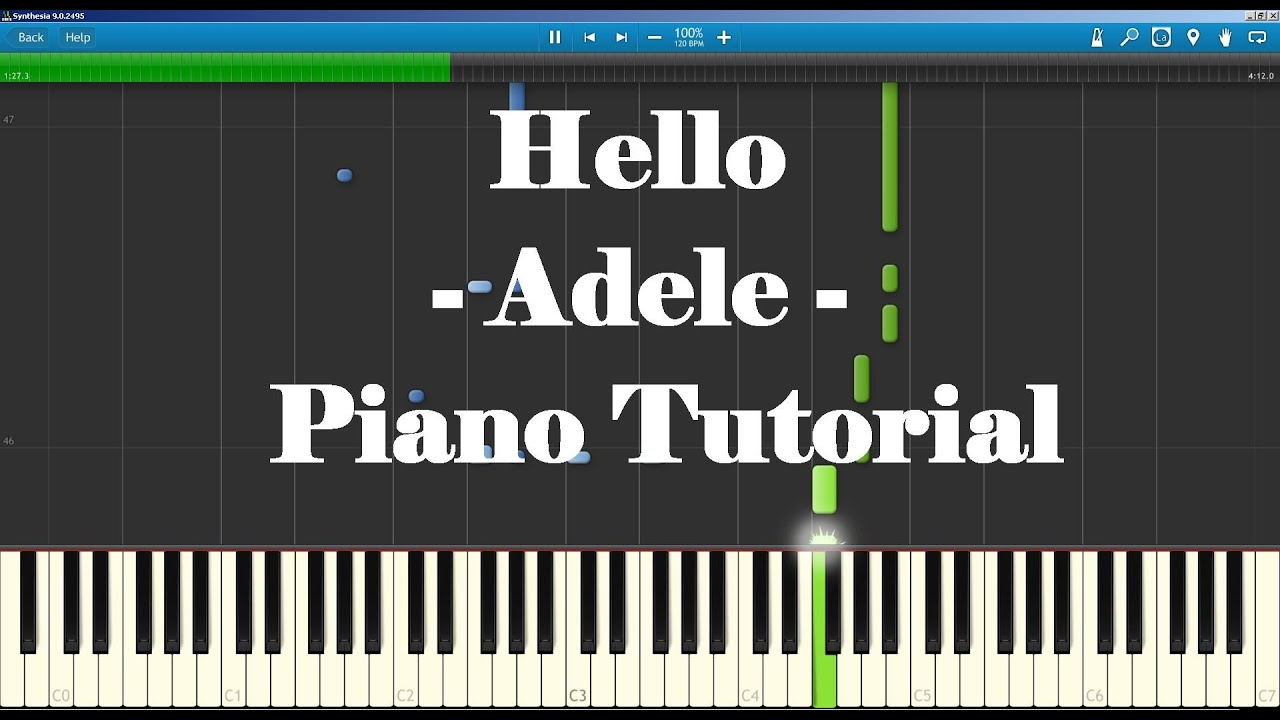 Hello - Adele Piano Tutorial How To Play (Lower Chords) Full song and Lyrics - YouTube