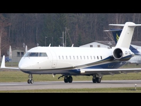 Bombardier CRJ200 from Libanon Take Off at Airport Bern-Belp