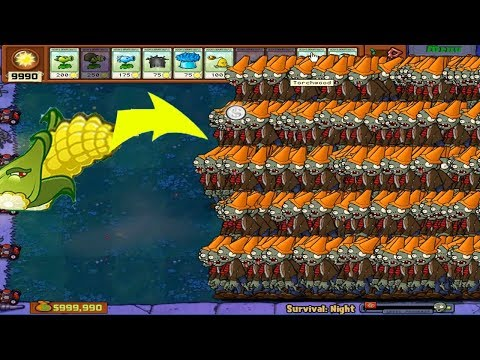 Plants Vs Zombies Hack - Cob Cannon Vs 99999  Zombie PvZ Mod
