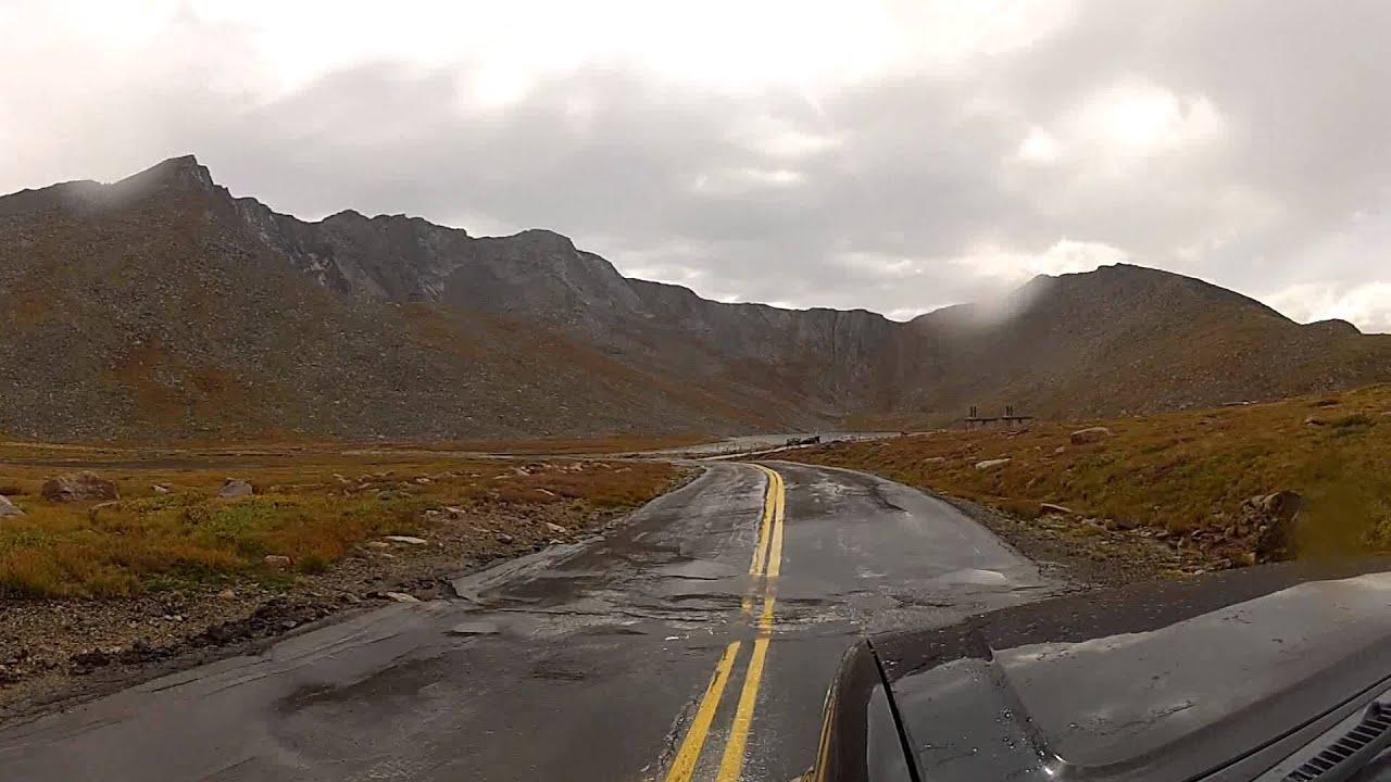 The Shifting Road Of Mount Evans To Summit Lake  Co