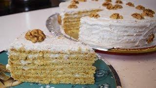 Ореховый торт с медом / Простой и вкусный рецепт