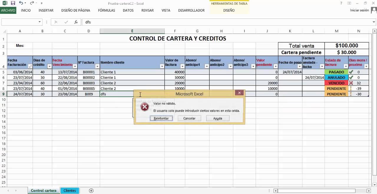 Créditos y cobranzas, control de créditos plantilla excel - YouTube