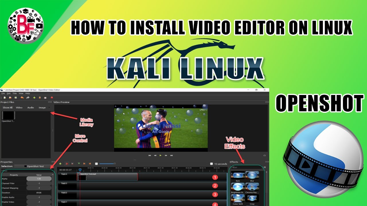How To Install Openshot Video Editor In Kali Linux - தமிழில்