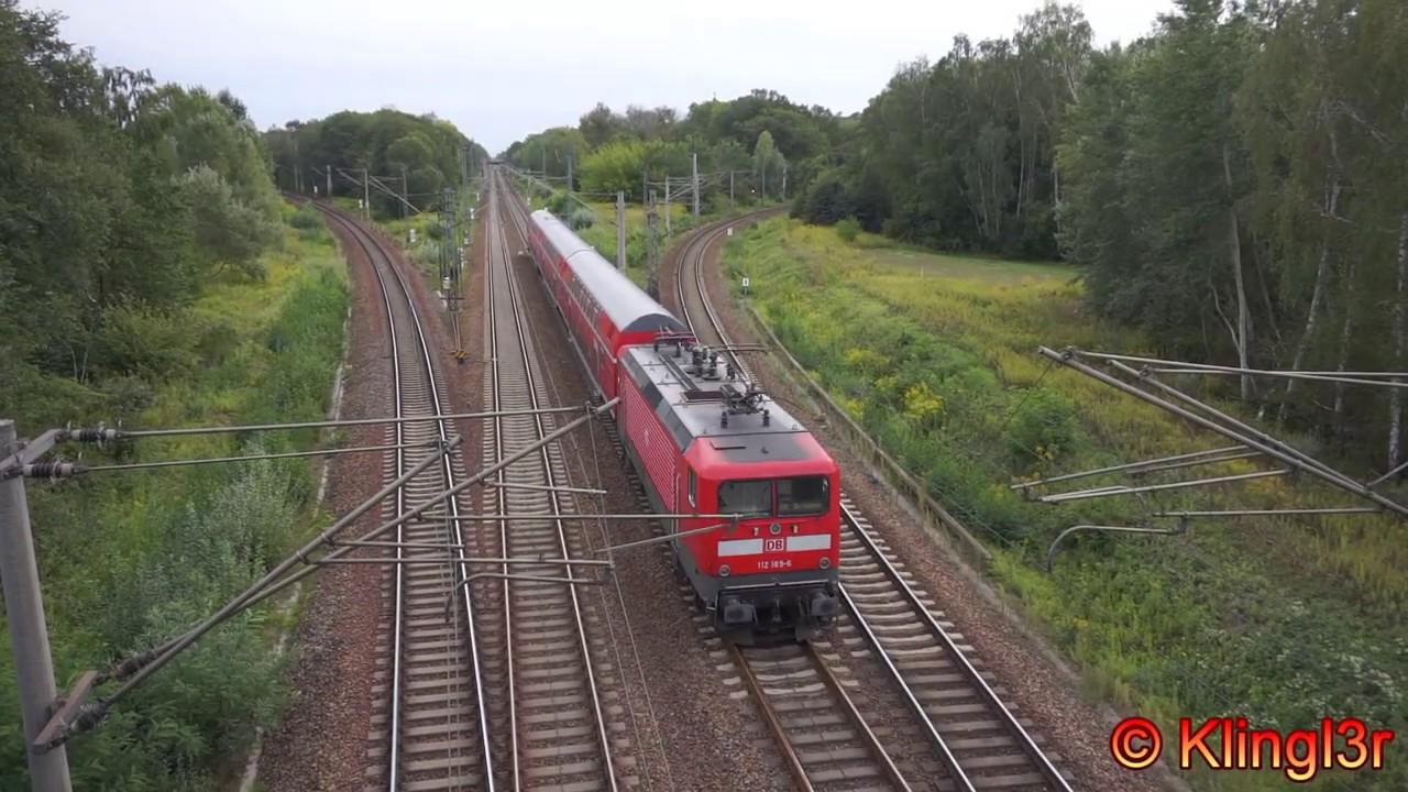 Zugverkehr in Brieselang - Brückenperspektive
