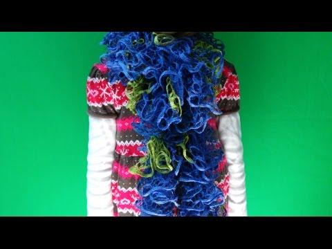 DaIsY´s DIY - Rüschenschal an einem Abend gestrickt - YouTube