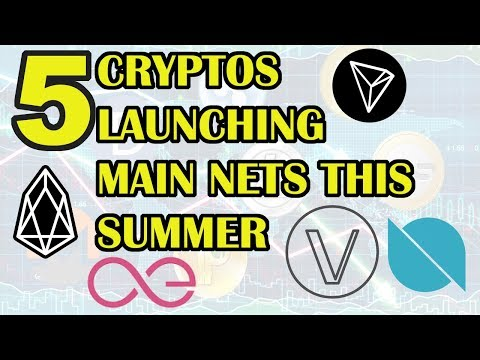 Technical Analysis: TRON TRX, EOS, VEN, ONT, AE. TOP 5 CRYPTO MAIN NETS LAUNCHING SOON