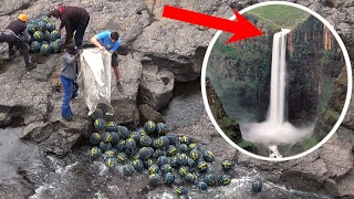 100 BASKETBALLS Vs. 200m WATERFALL!