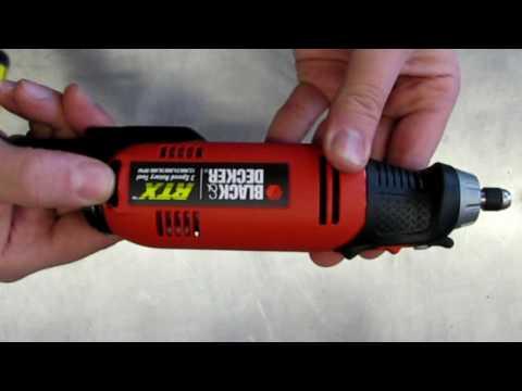 Black & Decker RTX 3 Speed Rotary Tool Box Opening