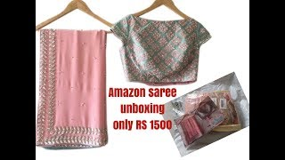 UNBOXING Best Saree from Amazon-only 1580 rs- is it good enough?
