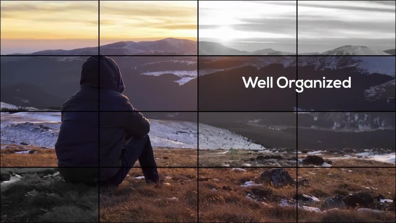 Elegant Grid Photo Slideshow Premiere Pro Templates - YouTube