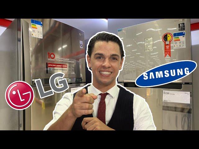 ANÁLISE COMPRATIVO ENTRE GELADEIRAS INVERTER SAMSUNG- RT6000K 5-em-1 453L E LG Smart TopFreezer 438L