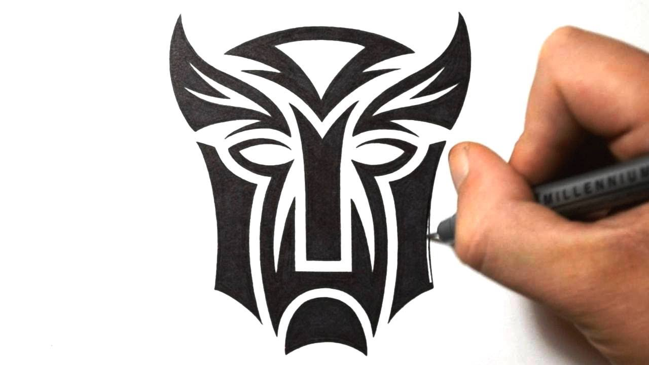 How to draw transformers logo tribal tattoo design style youtube biocorpaavc