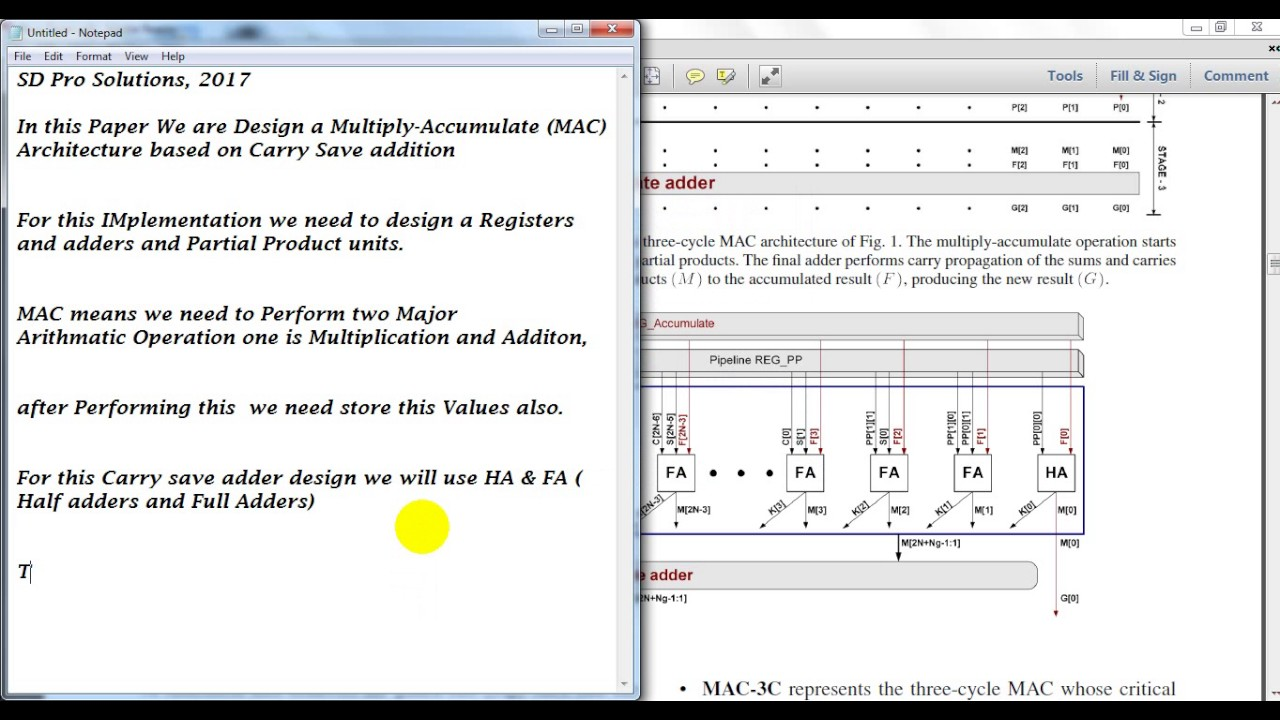 Multiply-Accumulate Architecture using carry save adder verilog code ||ieee  2017 vlsi projects pune