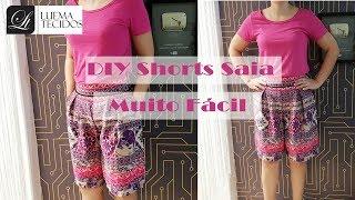 Aprenda passo a passo a confeccionar um shorts-saia