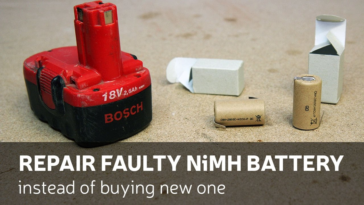 Diy Repair Faulty Nimh Battery Instead Of Buying New One Youtube