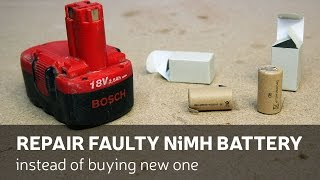 DIY: Repair Faulty NiMH Battery Instead Of Buying New One
