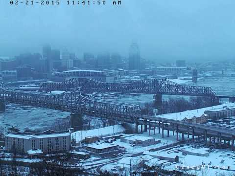 Cincinnati, Ohio River, 6 Inches of Snow Time Lapse 2-21-2015