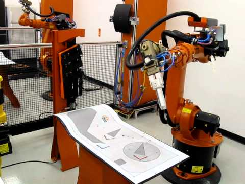 Kuka Basic Robotic Training Ptp Motion Youtube